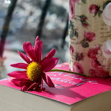 ☺ A book, a flower, a drink to be shared...☺