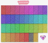 Colorful pattern fabric textile glitter