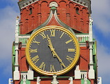 ☺ The Kremlin Clock Tower in Moscow...